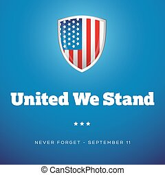 United we Stand - September Eleven vector