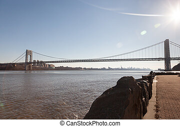 George Washington Bridge from Fort Lee Historic Park - The...