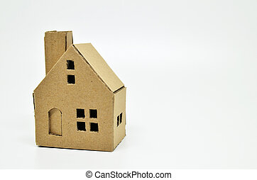 Paper house model and money. Real estate and property...