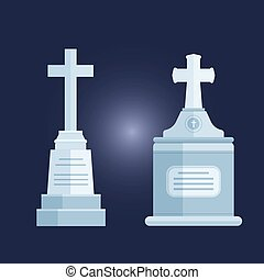 Tombstone crypt vector construction for dead people. -...