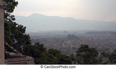 View from above. on Kathmandu in Nepal .Zoom in. Very...