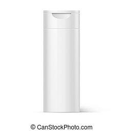 Plastic Bottle Shampoo Packaging - White Plastic Bottle...