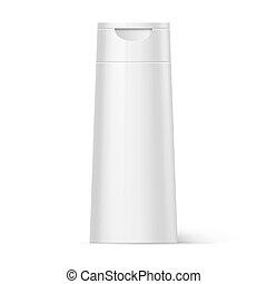 Plastic Bottle Shampoo Packaging - White Bottle Shampoo...