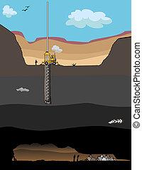 minero, rescate, Operación