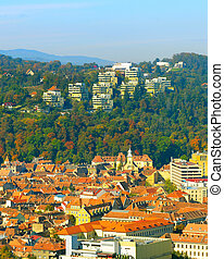 View of Brasov, Romania - Brasov Old Town in the morning...