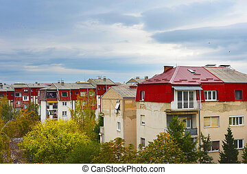 Bitola architecture, Macedonia - View of typical living...