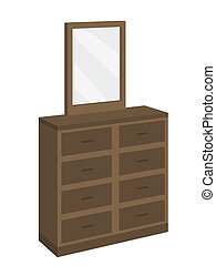 dresser furniture - dresser with eight drawers and mirror on...