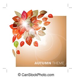 Autumn leafs abstract background with place for your text