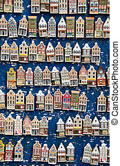 Magnet houses - Souvenirs from Amsterdam - fridge magnet...