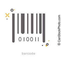 Thin line icons, Barcode - Thin line icons, Linear symbols,...