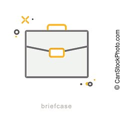 Thin line icons, Briefcase - Thin line icons, Linear...