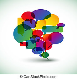 Abstract big speech bubble - Big speech bubble made from...