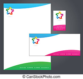 Letterhead template design - 4 - Corporate Identity Template...