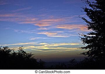 Sunset 1 - Sunset nearly Turnu-Ruieni, from Caras-Severin,...