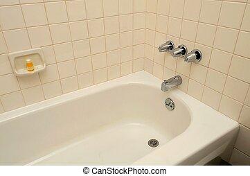 bañera, balneario, relajación