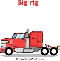 Big rig truck of vector illustration