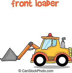 Front loader collection stock transportation
