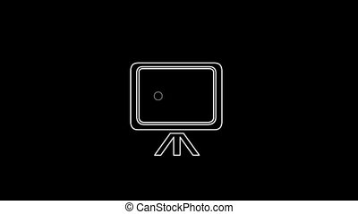 Blackboard Thin Icon With Alpha Channel - Business and...