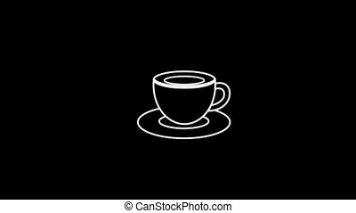 Cup Thin Icon With Alpha Channel - Business and Startup...