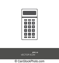 Calculator icon in flat style isolated on white background.
