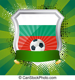 Shield with flag of Bulgaria
