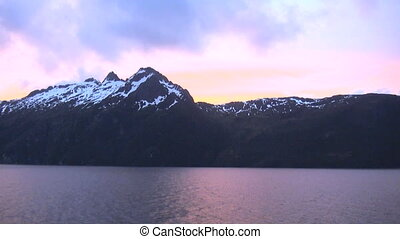 Cruising Beagle Channel - Evening mood above Beagle Channel,...
