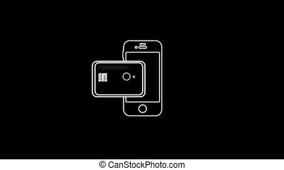 Purchase By Phone Thin Icon With Alpha Channel - Business...