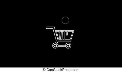 Shopping Thin Icon With Alpha Channel - Business and Startup...