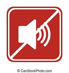 restricted speaker sound volume square sign - restricted...