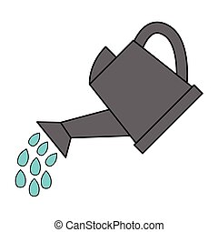 watering can - simple flat color watering can