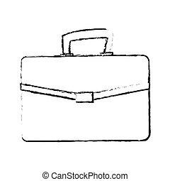 briefcase accessory icon - briefcase accessory over white...