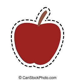 apple fruit icon - red apple fruit icon over white...