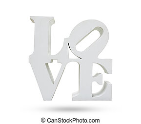 LOVE symbol object isolated white background. - LOVE symbol...