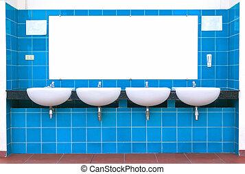 Clean new public toilet design.