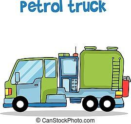 Petrol truck of transportation vector