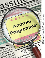 Now Hiring Android Programmer. 3D.