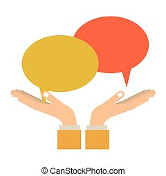 Chat bubbles speakbox icon vector illustration graphic...