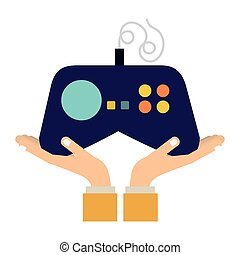 Console gamepad device icon vector illustration graphic...