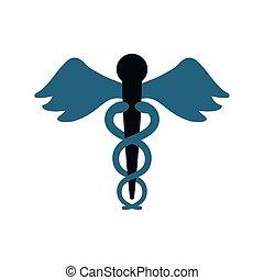 caduceus medicine symbol icon