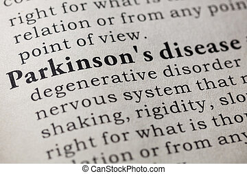 definition of Parkinson's disease - Fake Dictionary,...