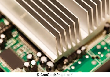 chipset heatsink - Close up of a chipset heatsink on...