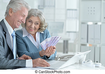 senior couple of businessmen - Portrait of a senior couple...