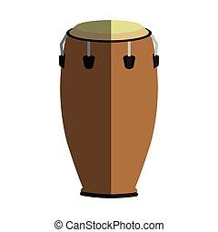 music instrument design - conga drum instrument icon over...