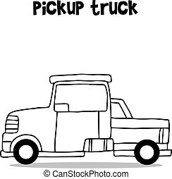 Collection of pickup truck transportation