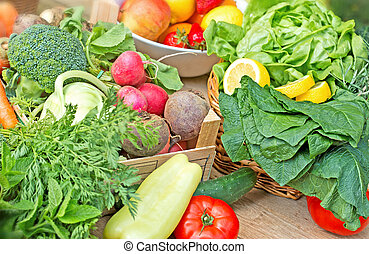 Healthy food - fresh organic vegetables