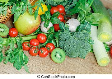 Vegetarian food - healthy diet on table