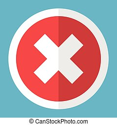 White cross in circle - White cross in a red circle with a...