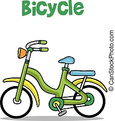 Collection of bicycle cartoon vector art