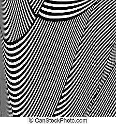 Op art pattern. Lines texture. Abstract background. Vector...