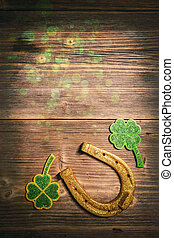 St. Patricks day, lucky charms, space for text